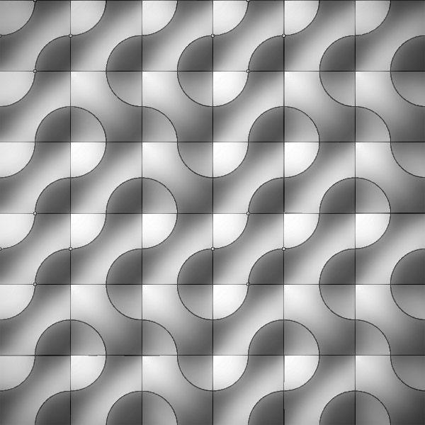"Designcoding | Prototiling Exercise how a small but smart design of a tiling system can generate diversity. Some patterns based on a system called ""truchet tiling"" are modeled in Rhino using patch and block commands. The example below shows the ""prototile"" of a hexagonal grid, while each edge is divided into two in order to generate a secondary blobish pattern."