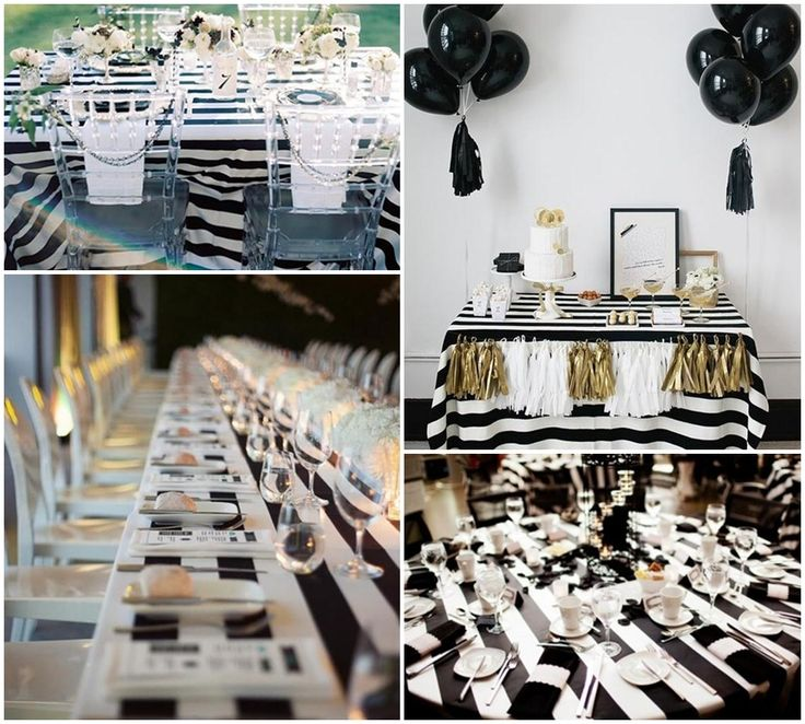 24 best Feiern Black and White Party images on Pinterest Black