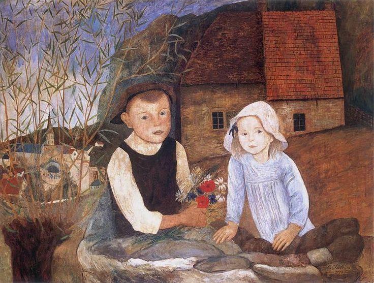 Return from walk, Makowski Tadeusz. Polish (1882 - 1932)