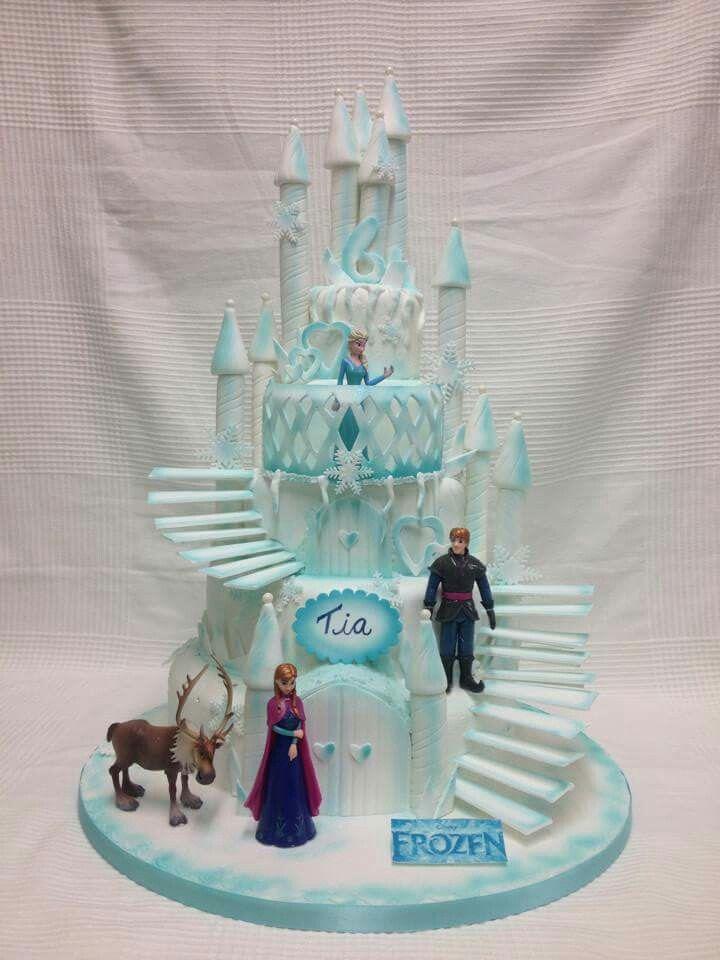 Frozen ice castle cake.