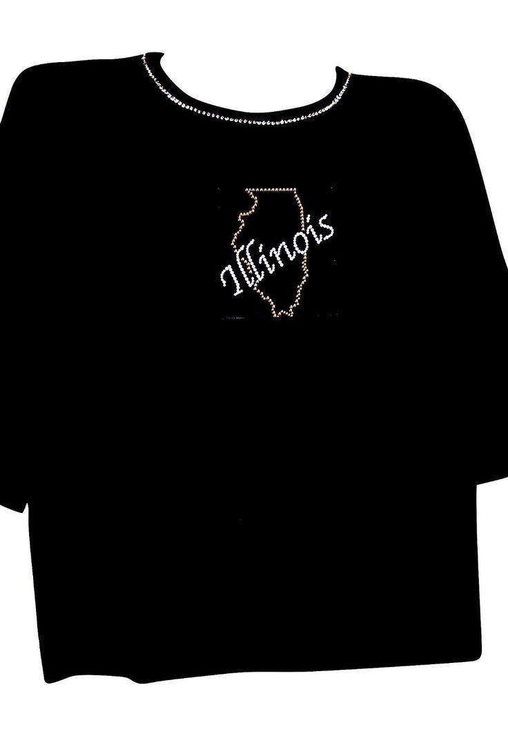 3X 24/26 Illinois State Jewelry Design Terazzo Womens 100% Cotton Knit Option