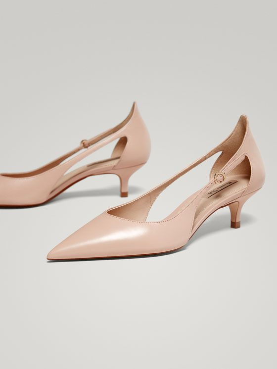 Spring Summer 2018 Women´s NUDE NAPPA LEATHER COURT SHOES at Massimo Dutti for 98.5. Effortless elegance!
