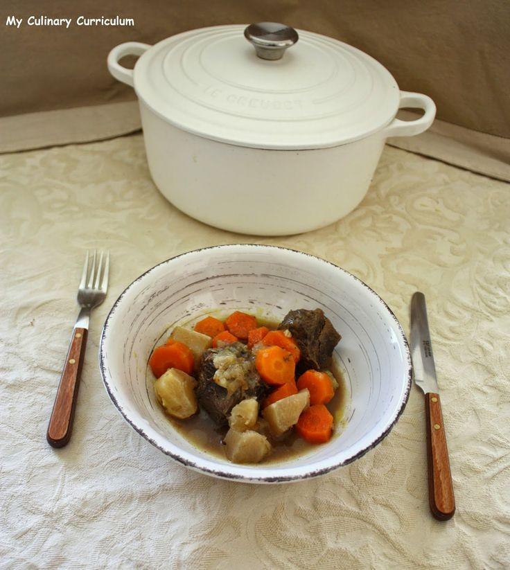 My Culinary Curriculum: Boeuf braisé aux carottes et navets (Braised beef ...