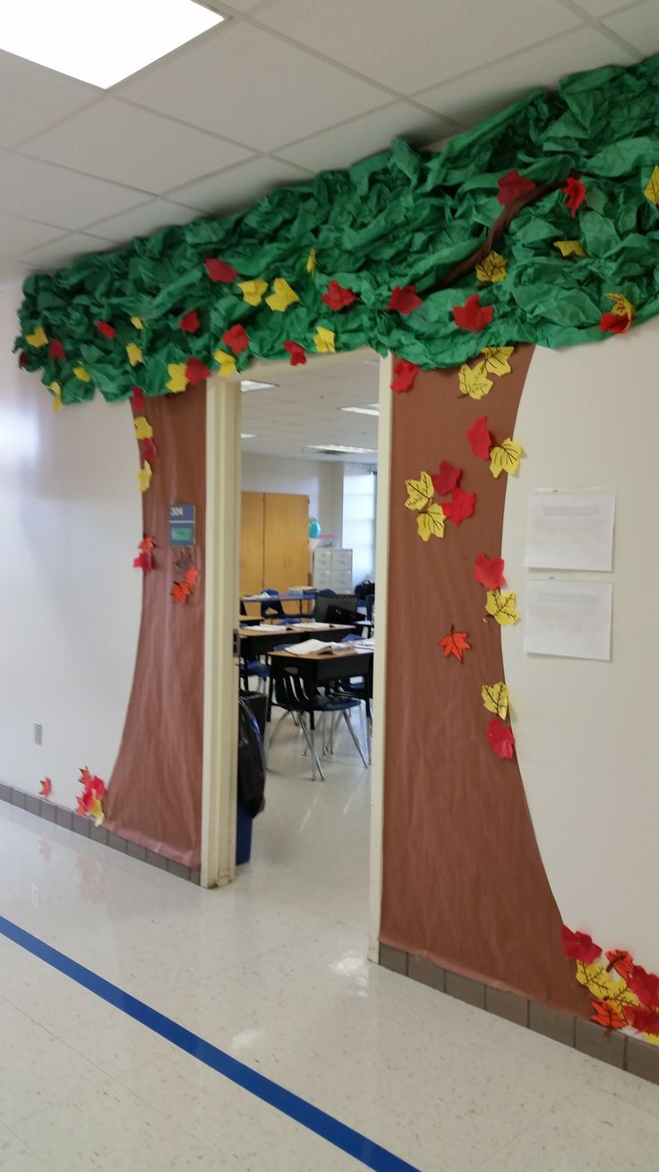 Classroom Door Decoration Ideas Rd Grade ~ Classroom door tree decoration fall ideas for