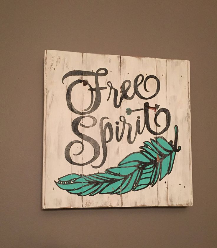 Free Spirit Wood Sign, Boho Decor, Reclaimed Wood, Dorm Decor, Hippie Decor, Gifts for Her, Inspirational Signs, Upcycled, Bedroom Decor by HomeandPalletNH on Etsy