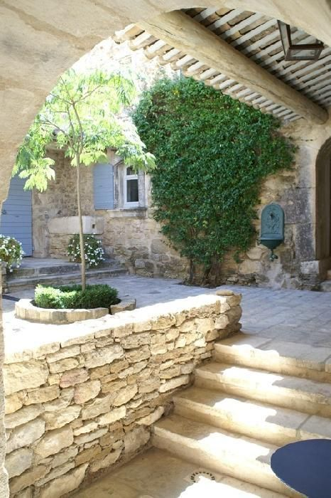 French Provence Courtyard