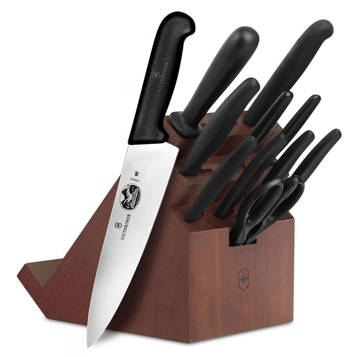 We are wanting a nice knife set. Shop for Victorinox Fibrox 11 to 19-pc. Knife Block Sets at cutleryandmore.com. We are your source for Victorinox Fibrox including this Victorinox Fibrox Swivel Knife Block Set. We carry only high quality cookware kitchen knives small appliances kitchen tools and coffee makers.