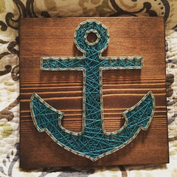 CUSTOM Anchor String Art by KiwiStrings on Etsy