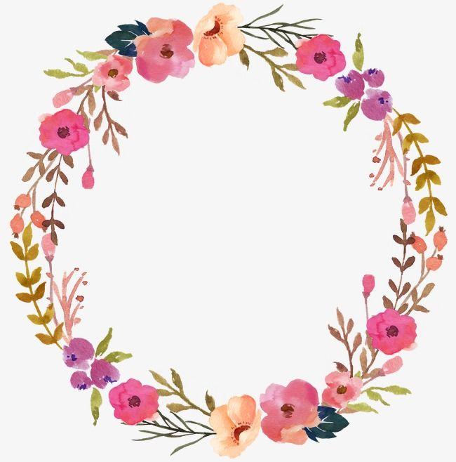 Wreath Flower Drawing Flower Frame Flower Png Images