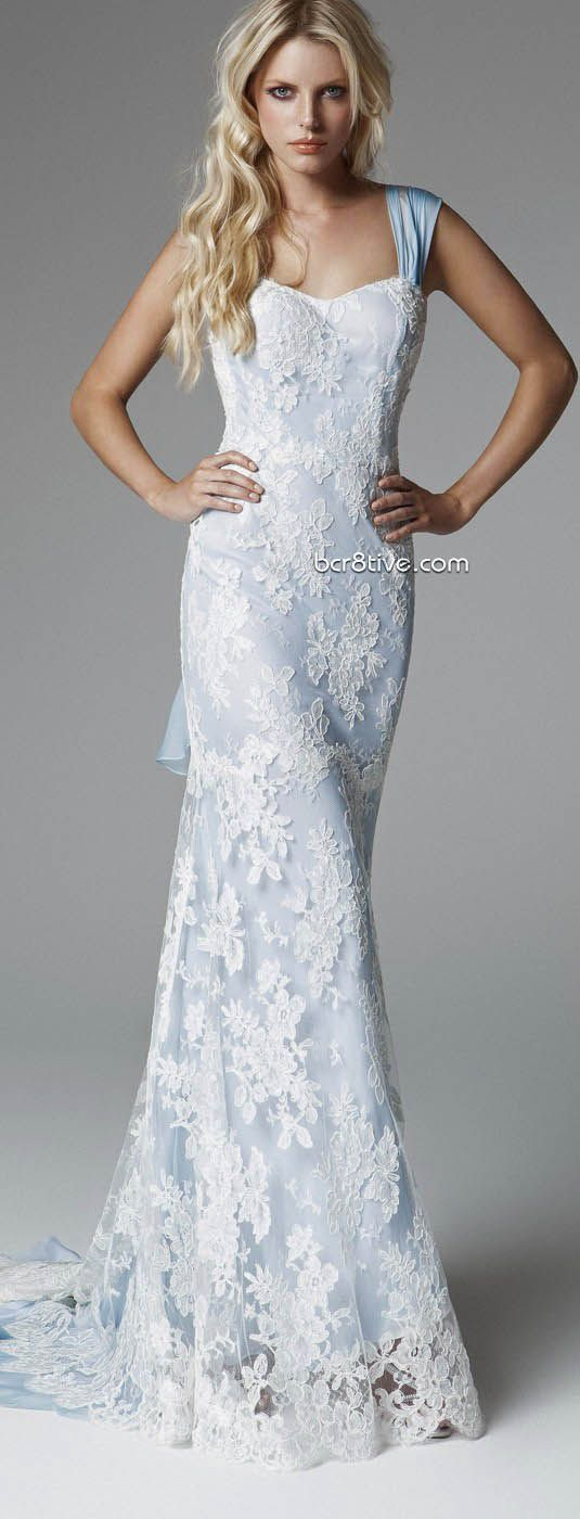 Blumarine 2013 Bridal Collection...i wouldn't want blue, but il ike the style of the dress
