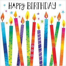 S297 Happy Birthday Candles.  www.gailscards.com.au