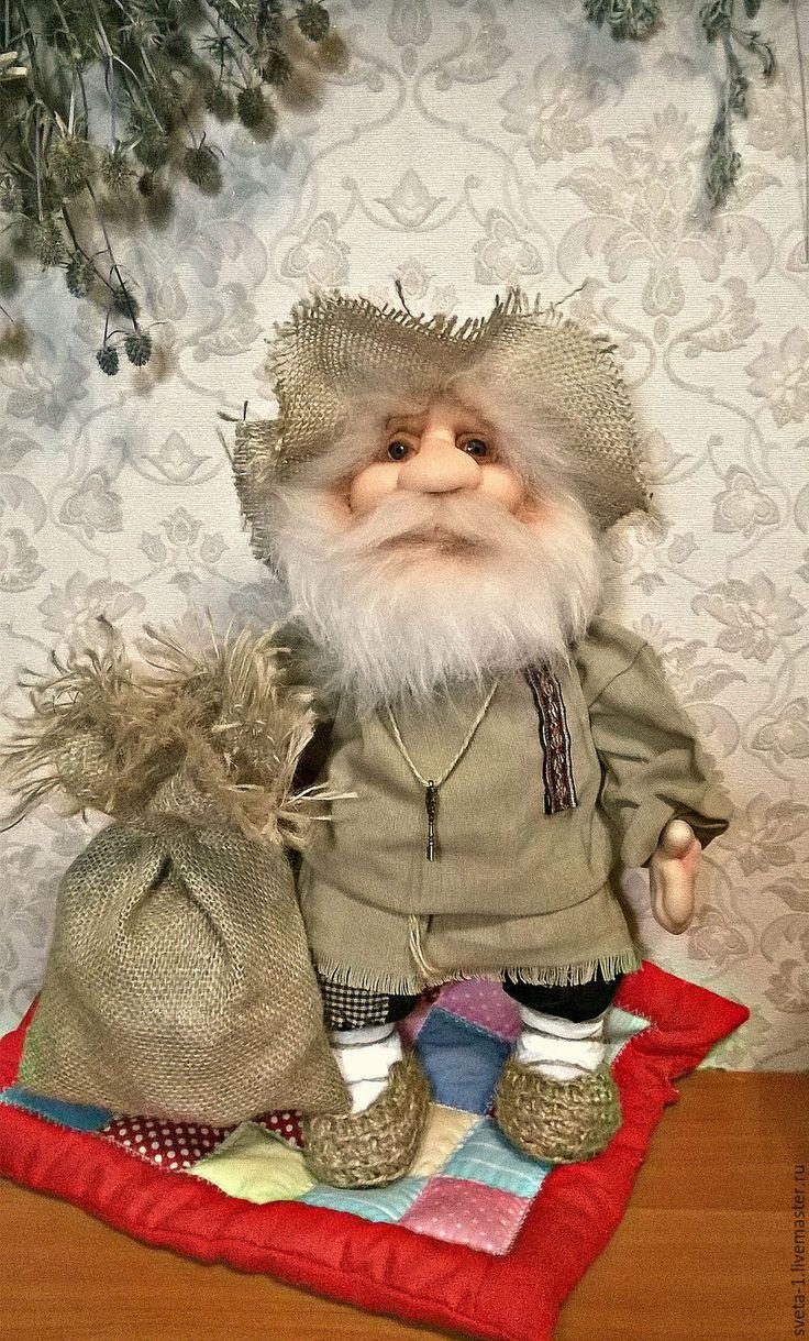Купить домовой - кремовый, домовой, оберег для дома, оберег для семьи, интерьерная кукла