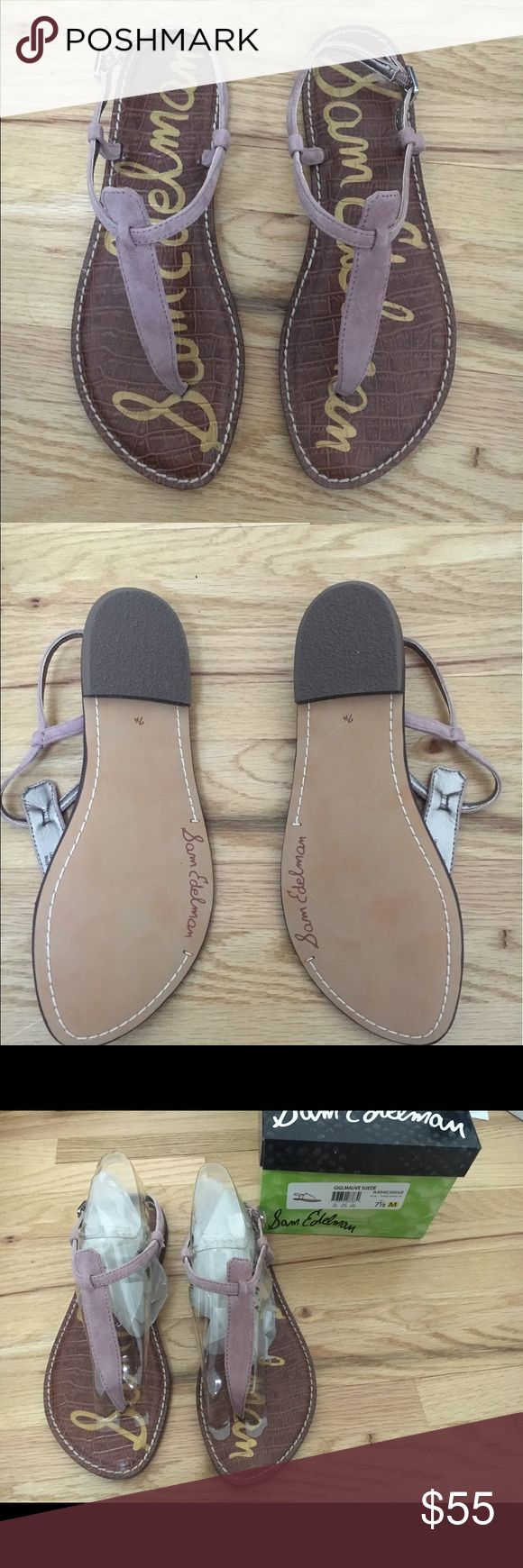 Sam Edelman Gigi Mauve Suede Sandals- Brand New The classic Sam Edelman Gigi sandal. Beautiful Mauve. Brand new- Never Worn. Size 7.5 Sam Edelman Shoes Sandals