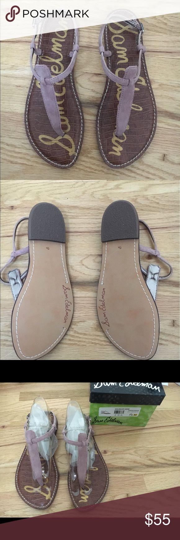 Sam Edelman Gigi Mauve Suede Sandals- Brand New The classic Sam Edelman Gigi sandal. Beautiful Mauve. Brand new- Never Worn. Size 7.5 Sam Edelman Shoes Sandals