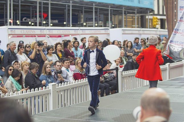Little boys are so chic wearing suits ! #catwalk #fashionshow #NYC #boys #chic
