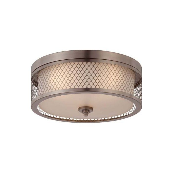 Beautify your room's decor with the Darby Home Co Lofton 3 Light Flush Mount. This modern flush mount has bronze and nickel finish that looks beautiful in any room. It is constructed from metal and glass that makes it robust and long lasting. This flush mount looks gorgeous in the entryway, foyer, and living room. It easily accommodates three 60W incandescent bulbs, which are not included. These bulbs are dimmable, and you can conveniently adjust its brightness in the room. This flush mount…