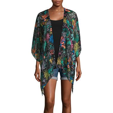 FREE SHIPPING AVAILABLE! Buy Arizona 3/4 Sleeve Pattern Kimono Juniors at JCPenney.com today and enjoy great savings.