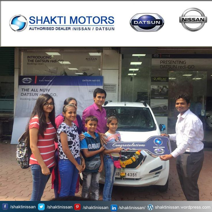 """Our Proud Customer Congratulations """"Kishore Bhanushali"""" for getting his new #DATSUN Car. Know more about Shakti Nissan : http://goo.gl/Cj4lNH  #DatsunCarDelivery #NissanCar #Sunny #Terrano"""