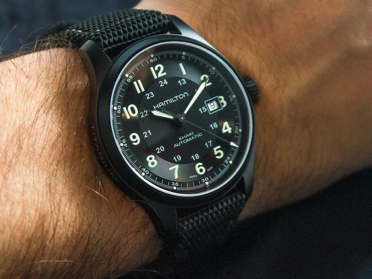 "Hamilton Watch Official page Khaki Field Titanium Auto Review - by James Stacey - Read the full review and see the photos and video on aBlogtoWatch.com ""I've long been on record as saying that a field watch may be the most accessible watch design for most guys...the Hamilton Khaki Field is a line I frequently recommend to friends who are looking for their first 'good' watch..."""