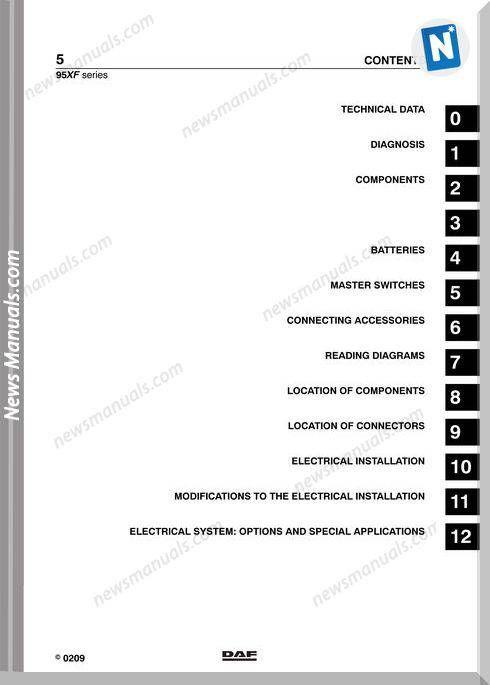 Daf 95 Xf Electrical Wiring Diagram Daf Wiring Diagram on