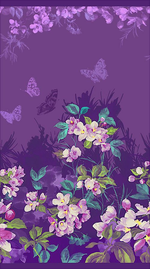 Mystic Garden - Blossoming Butterfly Border - Quilt Fabrics from www.eQuilter.com