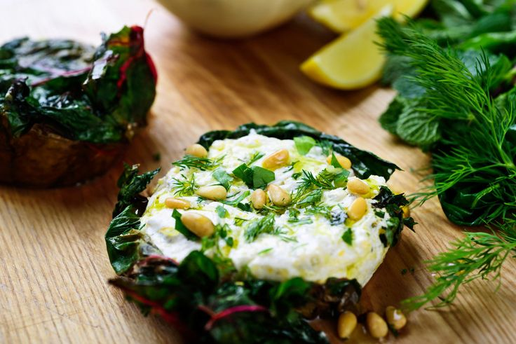 Filled with yogurt, dill and mint, these pitas are wrapped in chard leaves, rather than pastry.