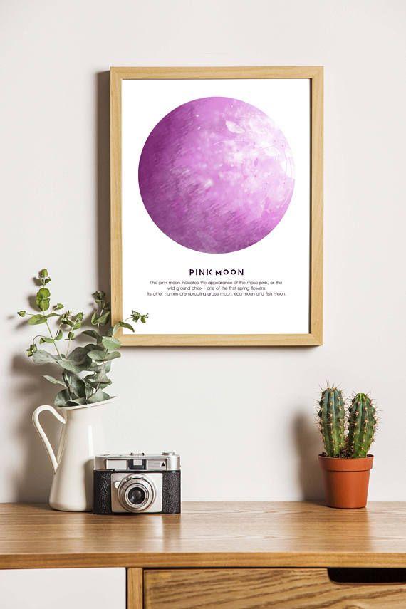 Full 'Pink Moon' digital download cute girl pink moon