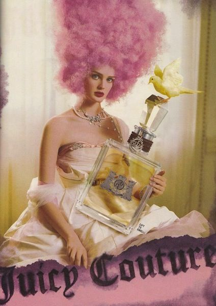 The 13 Most Decadent Fashion Moments Inspired by Marie Antoinette: A 2009 Juicy Couture fragrance advertisement.