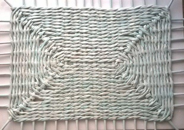 Fondo trenzado rectangular