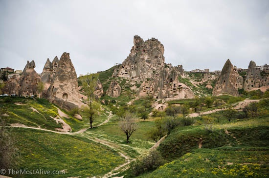 Another popular viewing point of Uchisar Castle visit @ http://themostalive.com/pigeon-valley-uchisar-castle-cappadocia-turkey/