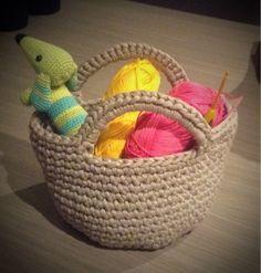 JulieGurumi: Patroon mandje van Textielgaren