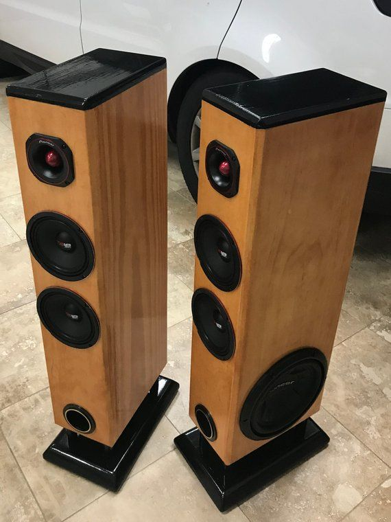 Custom Made - Tower Floor Speakers - Set of TWO   Products ...