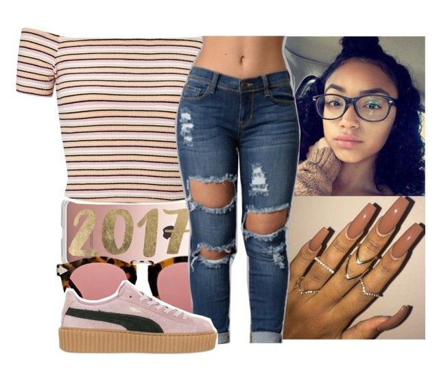 """""""happy new years!!"""" by aribearie ❤ liked on Polyvore featuring Casetify, Karen Walker, Miss Selfridge and Puma"""