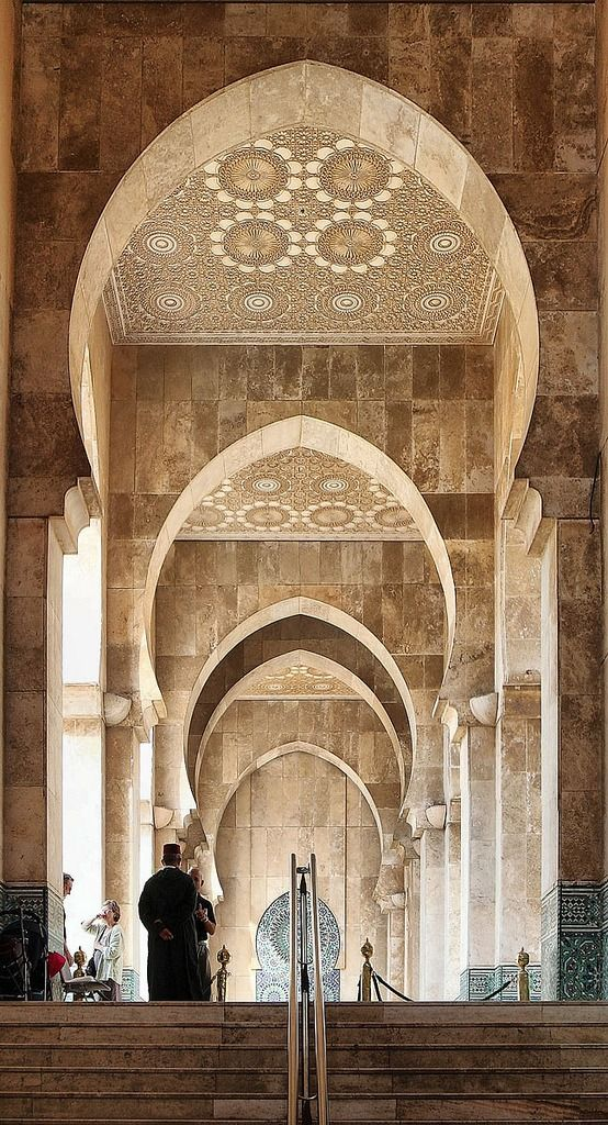 Mosque in Casablanca, Morocco I visited it in 2000, and it was by far one of the most visually arresting places i have ever seen..a must see!