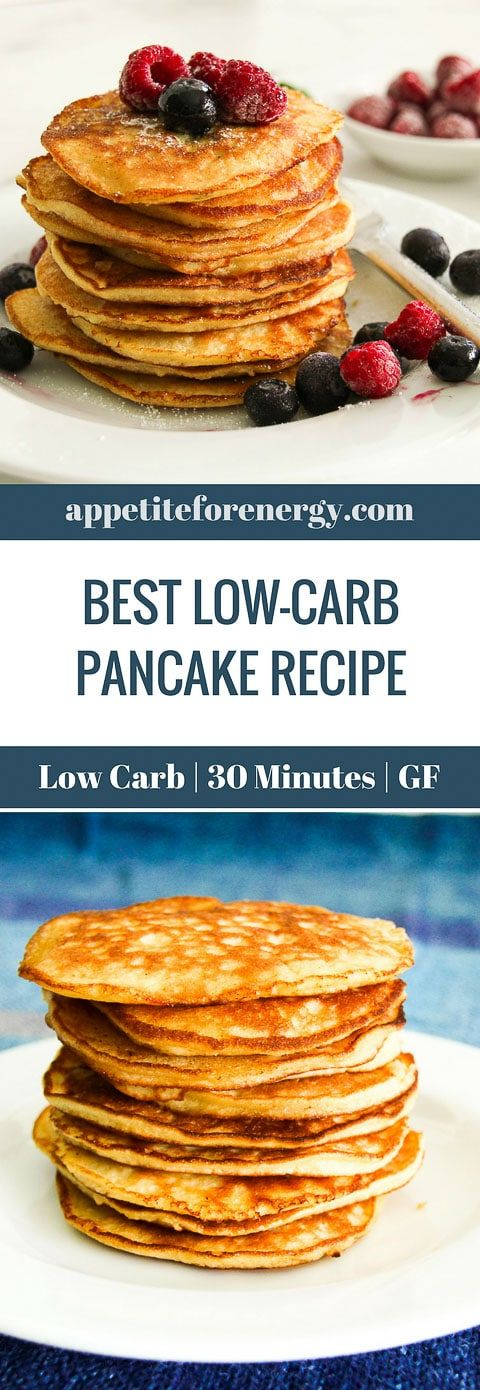 This Low-Carb Pancake Recipe is just what you need to start your day with a heal...