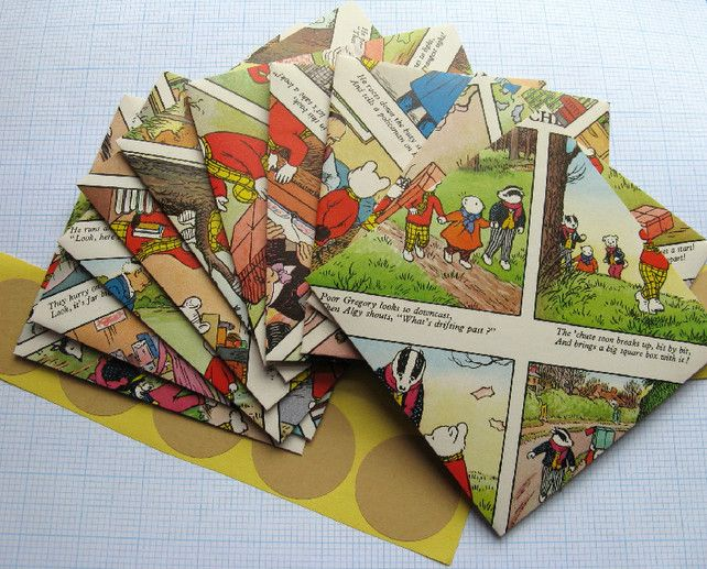 10 Rupert The Bear Envelopes with Stickers £5.50