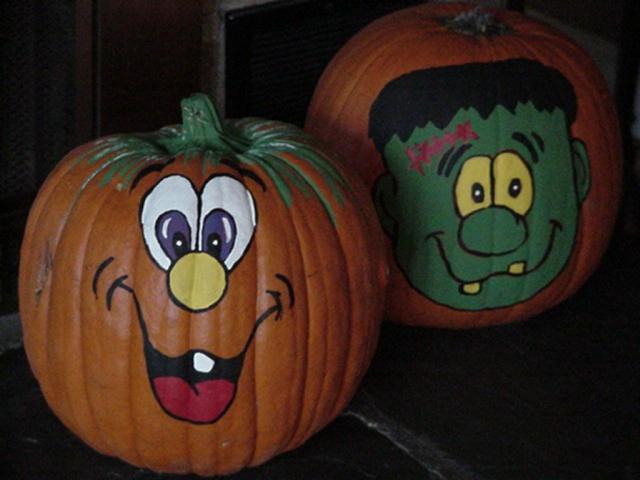 halloween pumpkin painting - How To Paint Pumpkins For Halloween