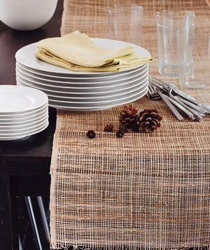 Use burlap as a rustic table runner.
