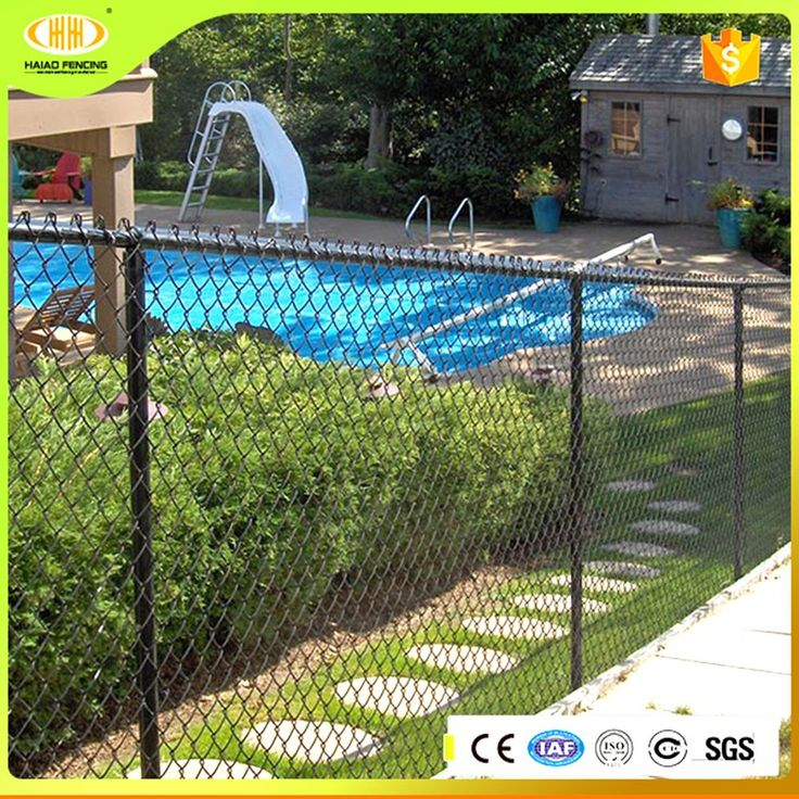 Heavy duty 6ft color coated galvanized chain link fence panels in steel wire mesh