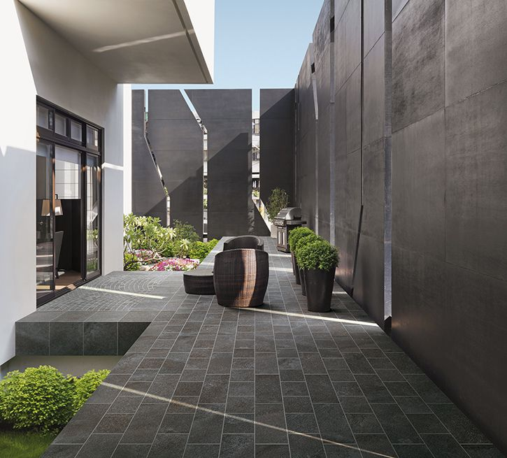 Basic collection by cerdomus highly performing outdoor for Outdoor wall coverings garden