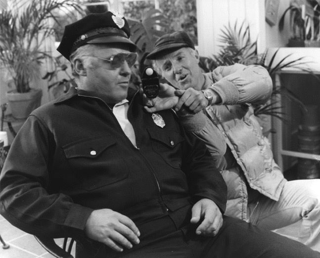 DP Haskell Wexler with Rod Steiger on the set of In the Heat of the Night, 1967, directed by Norman Jewison.