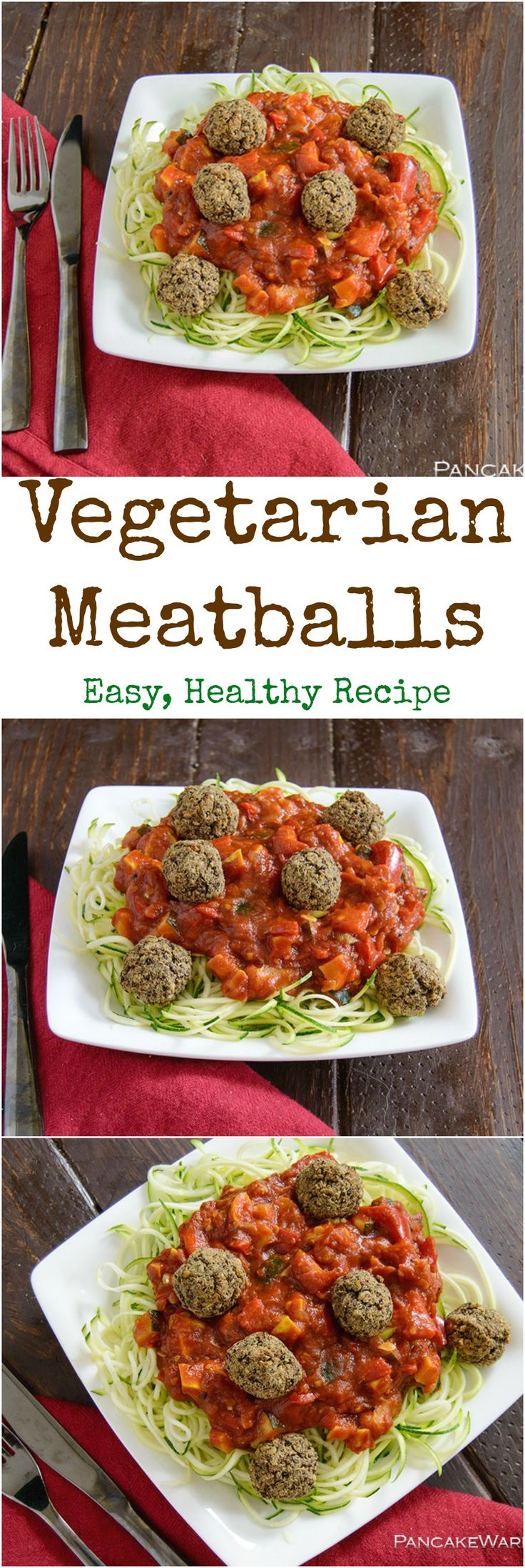Vegetarian Meatballs - this healthy recipe is full of flavor and easy to make. Gluten free, low fat, vegan and high protein. This dish will impress meat eaters and veggies alike!