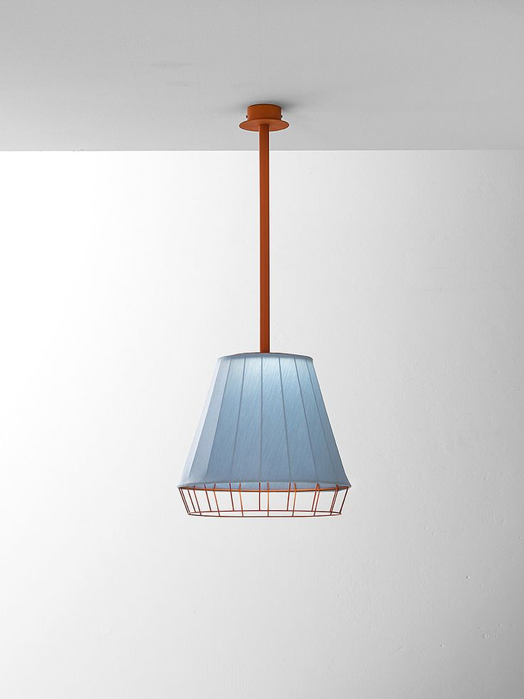 Dress - Suspension lamp - light blue/orange