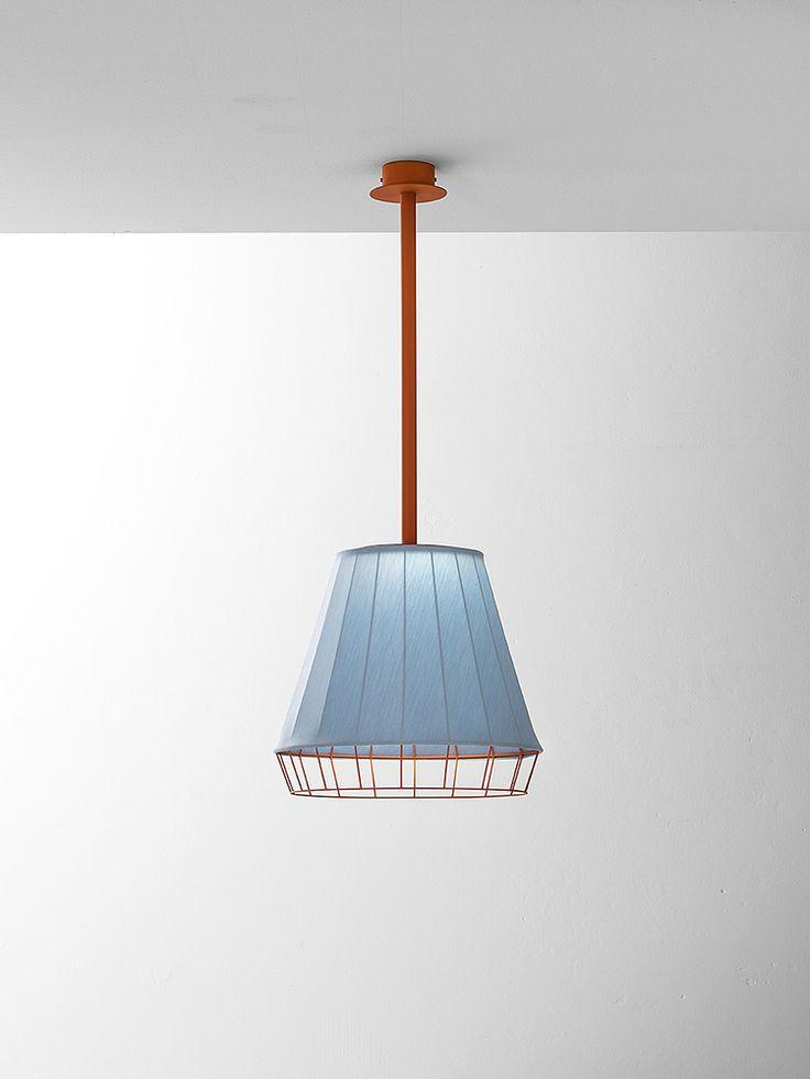 Dress - Suspension lamp - light blue/orange