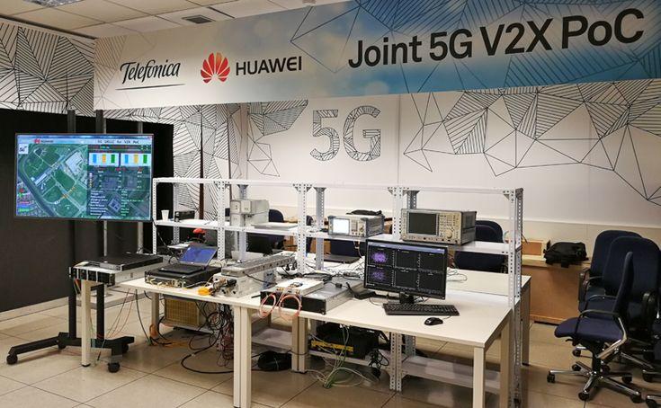 Laboratorio de Innovación 5G Conjunto que Telefónica y Huawei donde se ha realizado la prueba de concepto de redes de comunicaciones basadas en 5G-V2X de gran importancia para el desarrollo de la conducción autónoma.