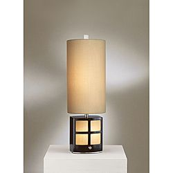 Nova Demi Dark Brown Table Lamp with Night Light | Overstock.com Shopping - Great Deals on Table Lamps