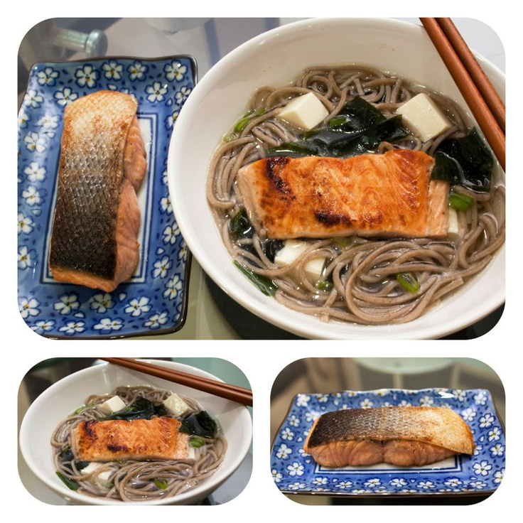 Soba Noodle with Salmon Teriyaki