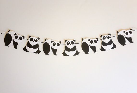 Simply Sweet Panda Garland  Simply Sweet by EndearingCreations3