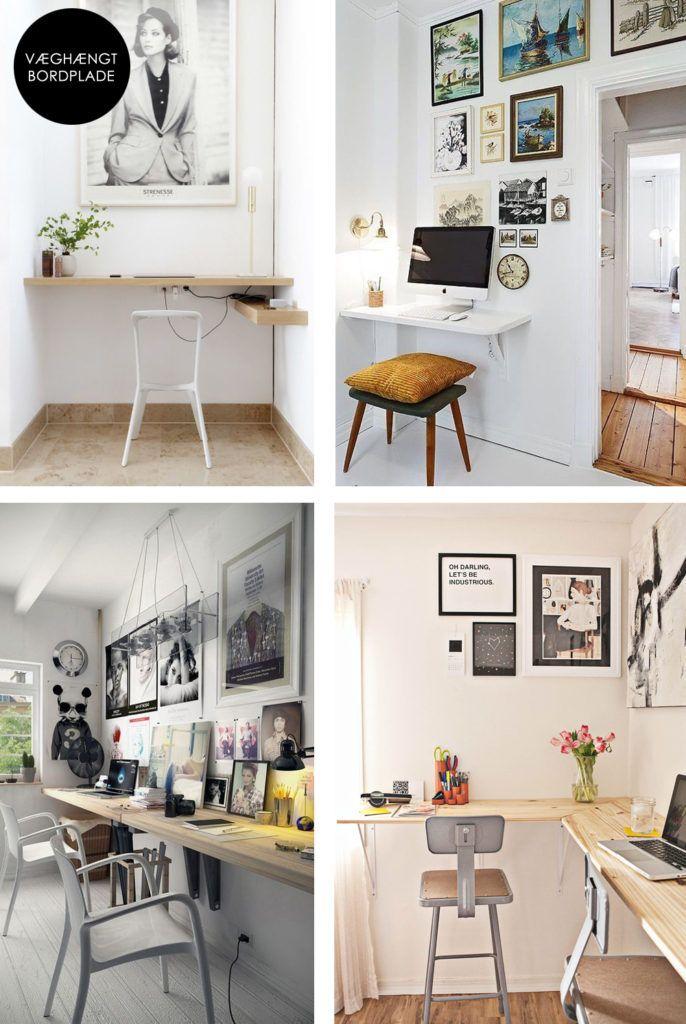 Simpelt og pladsbesparende hjemmekontor -