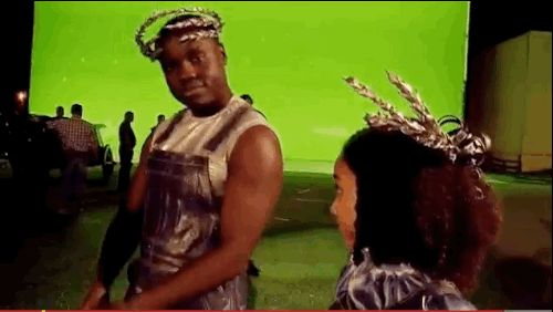 "When Thresh broke it down. | 24 Times The Cast Of ""The Hunger Games"" Broke Character"